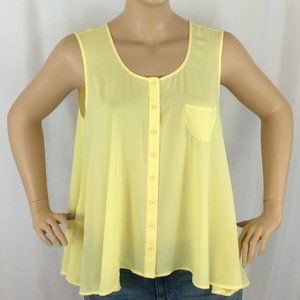Style &Co button Down Sleeveless Blouse 203D